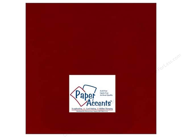 Cardstock 12 x 12 in. #135 Smooth Brick by Paper Accents (25 sheets)