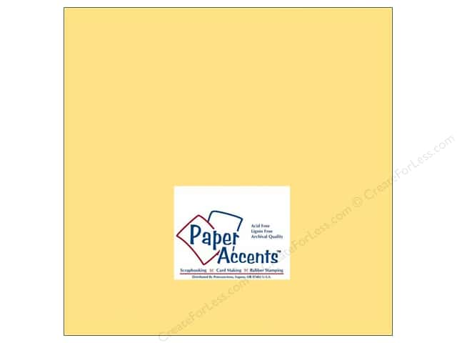 Cardstock 12 x 12 in. #138 Smooth Sunflower by Paper Accents (25 sheets)