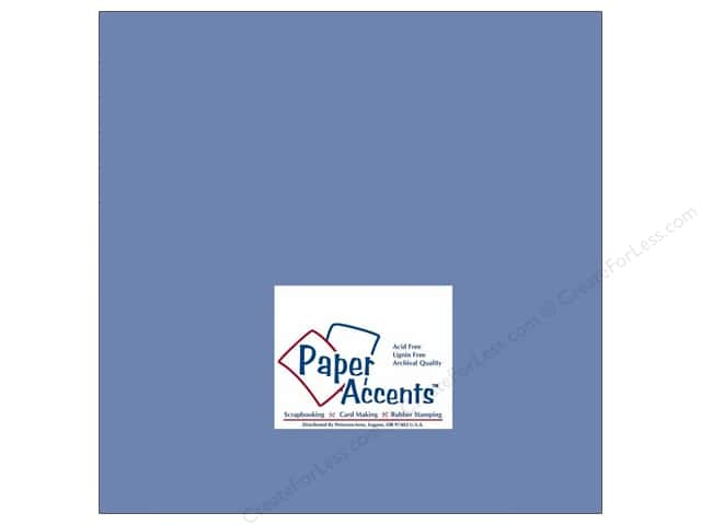 Cardstock 12 x 12 in. #140 Smooth Persian Blue by Paper Accents (25 sheets)