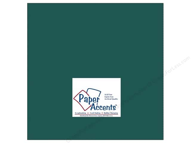 Cardstock 12 x 12 in. #141 Smooth Dark Green by Paper Accents (25 sheets)
