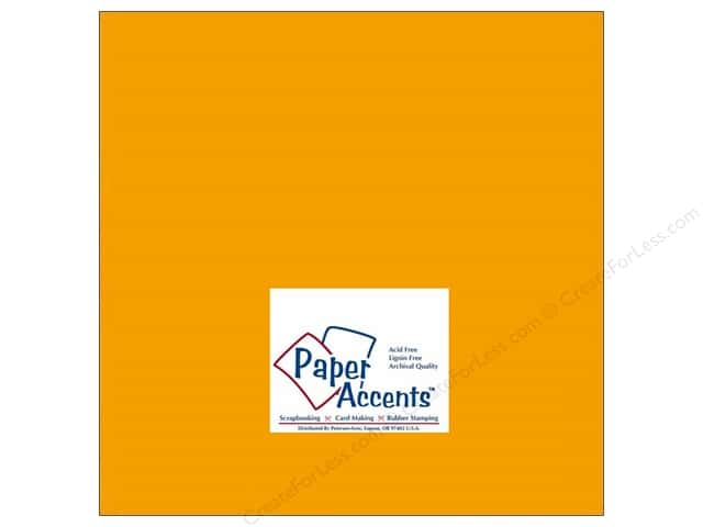 Cardstock 12 x 12 in. #143 Smooth Pumpkin by Paper Accents (25 sheets)