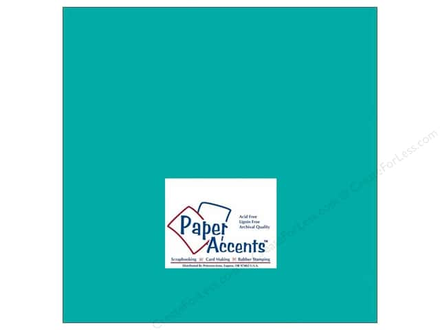 Cardstock 12 x 12 in. #145 Smooth Sea Blue by Paper Accents (25 sheets)