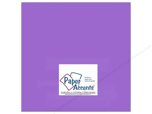 Cardstock 12 x 12 in. #146 Smooth Violet by Paper Accents (25 sheets)