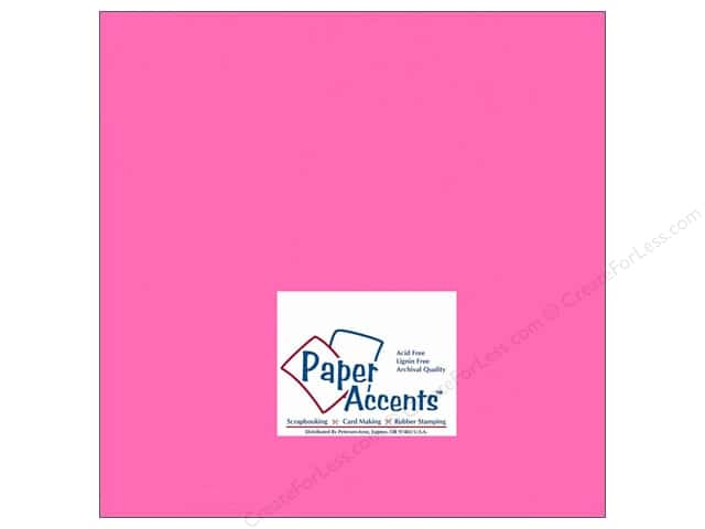 Cardstock 12 x 12 in. #149 Smooth Bubblegum by Paper Accents (25 sheets)