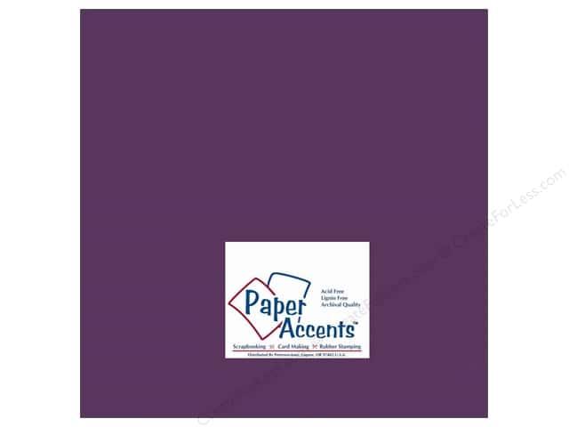Cardstock 12 x 12 in. #154 Smooth Boysenberry by Paper Accents (25 sheets)
