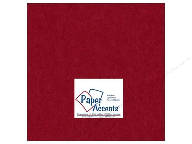 Cardstock 12 x 12 in. #163 Smooth Chili by Paper Accents (25 sheets)