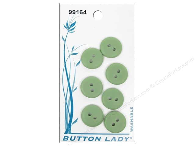 JHB Button Lady Buttons 1/2 in. Green #99164 7 pc.