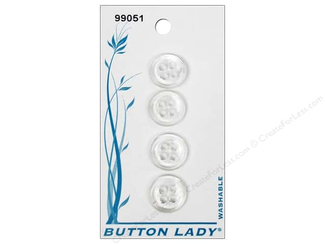 JHB Button Lady Buttons 1/2 in. Clear #99051 5 pc.