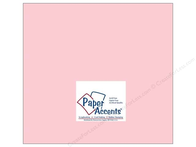 Cardstock 12 x 12 in. #171 Smooth Baby Pink by Paper Accents (25 sheets)