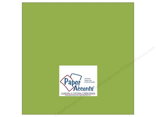 Cardstock 12 x 12 in. #177 Smooth Leaf Green by Paper Accents (25 sheets)