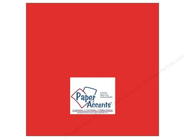 Cardstock 12 x 12 in. #178 Smooth Scarlet by Paper Accents (25 sheets)