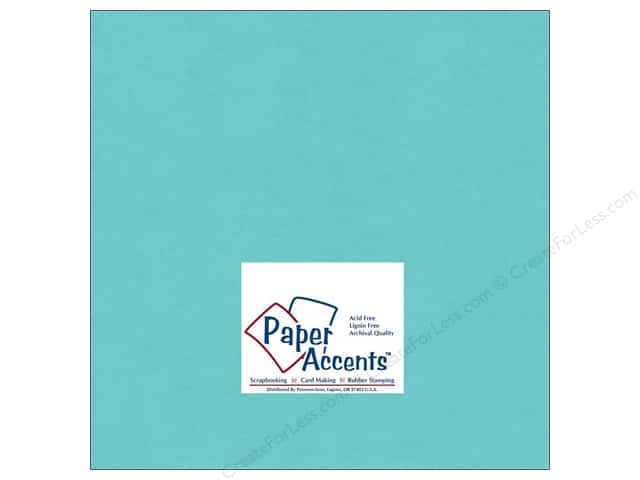 Cardstock 12 x 12 in. #189 Smooth Aquamarine by Paper Accents (25 sheets)