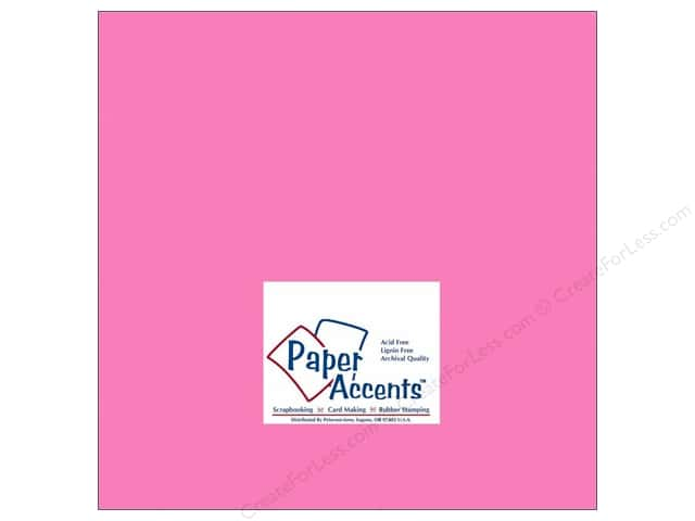 Cardstock 12 x 12 in. #191 Smooth Pink Sizzle by Paper Accents (25 sheets)