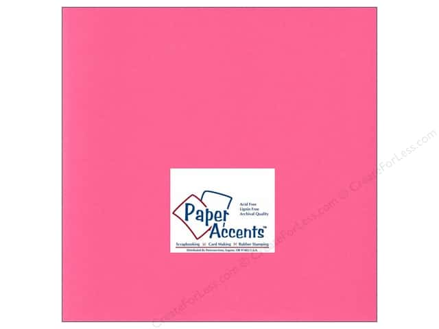 Cardstock 12 x 12 in. #192 Smooth Razzle Berry by Paper Accents (25 sheets)