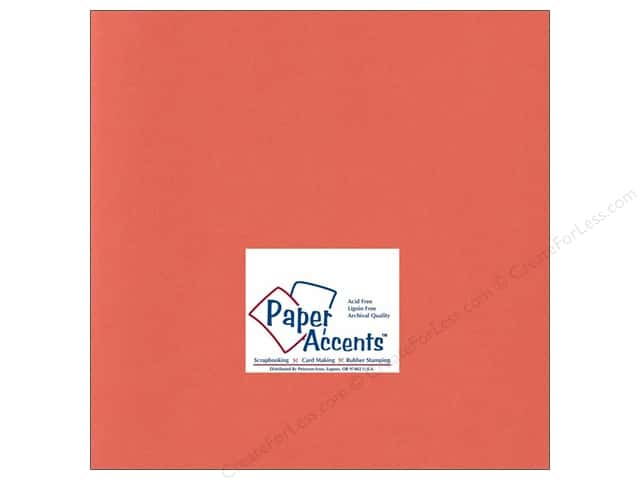 Cardstock 12 x 12 in. #193 Smooth Blaze by Paper Accents (25 sheets)