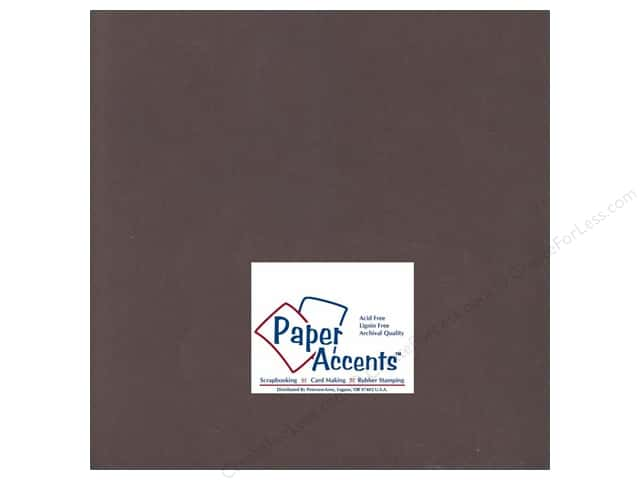 Cardstock 12 x 12 in. #198 Smooth Hot Fudge by Paper Accents (25 sheets)