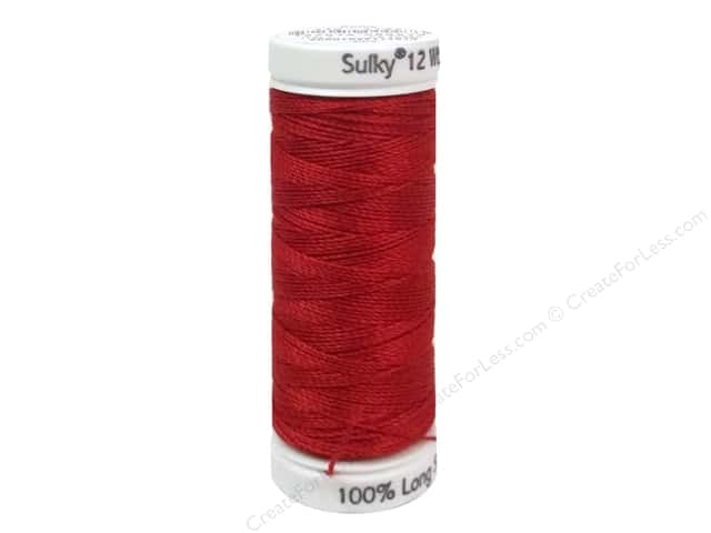 Sulky Cotton Thread Petites 12wt 50yd Christmas Red