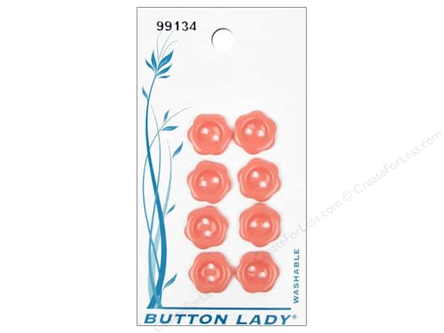 JHB Button Lady Buttons 1/2 in. Pink #99134 8 pc.