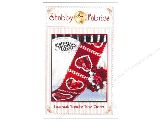 Shabby Fabrics Patchwork Valentine Table Runner Pattern