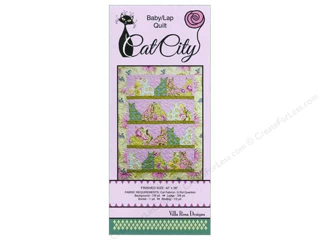 Villa Rosa Designs Tall Cards Cat City Pattern