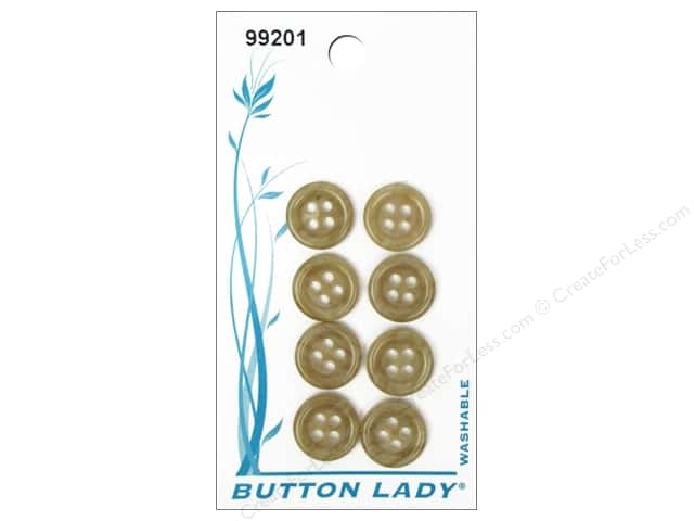 JHB Button Lady Buttons 1/2 in. Marble Brown #99201 8 pc.