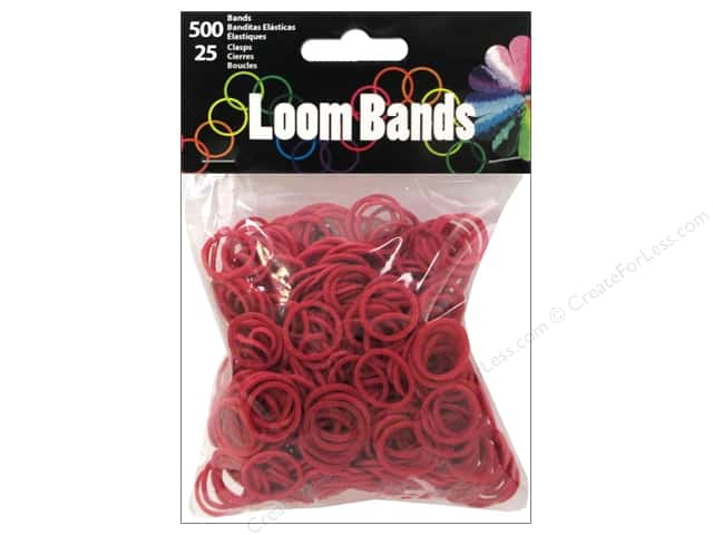 Midwest Design Loom Band Burgundy 525pc