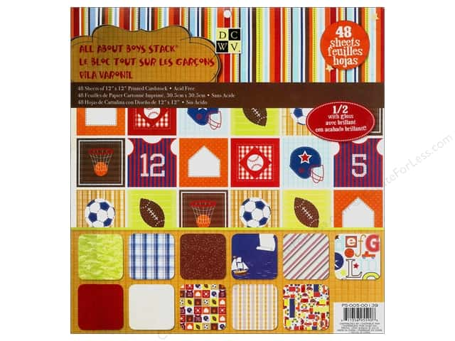 Die Cuts With A View 12 x 12 in. Cardstock Mat Stack All About Boys
