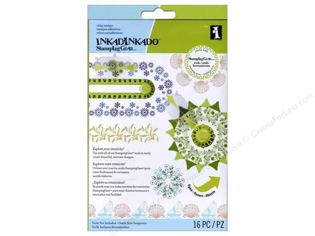 Inkadinkado Cling Stamp Stamping Gear Set Seasonal