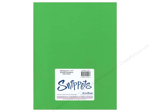 Cardstock 8 1/2 x 11 in. #102 Smooth Kelly Green by Paper Accents 5 pc.