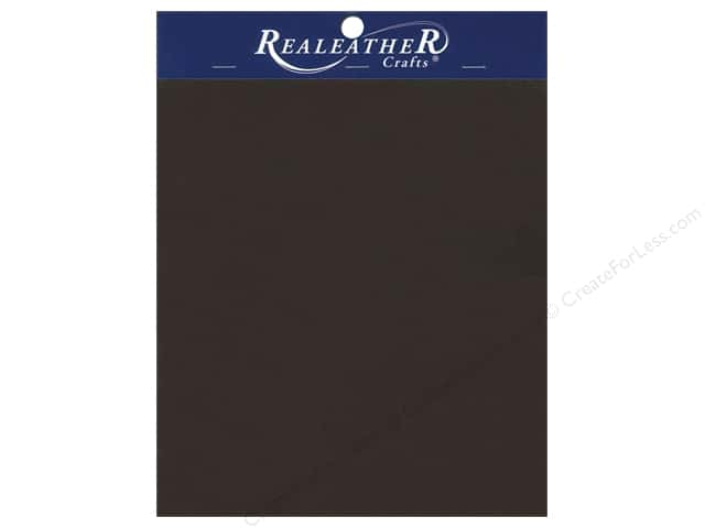 "Silver Creek Realeather Leather Triumph Trim Piece 8.5""x 11"" Card Brown"