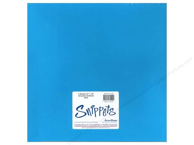 Cardstock 12 x 12 in. #103 Smooth Blue by Paper Accents 3 pc.