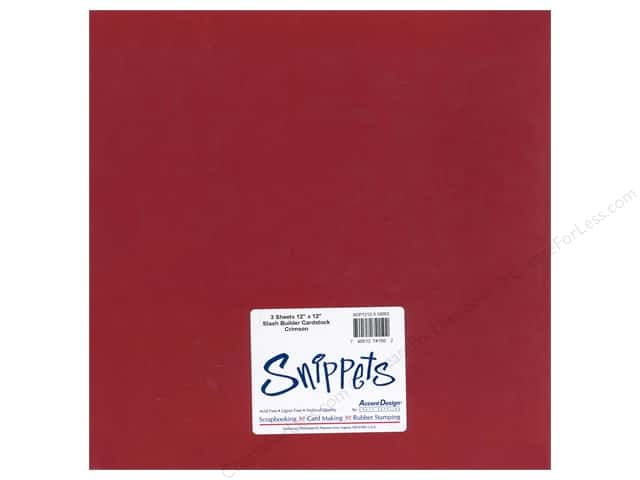 Cardstock 12 x 12 in. #10053 Stash Builder Crimson by Paper Accents 3 pc. (3 pieces)