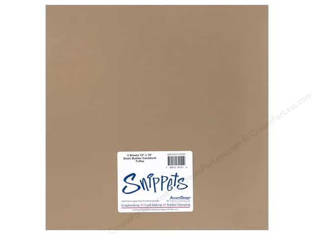 Cardstock 12 x 12 in. #10125 Stash Builder Toffee by Paper Accents 3 pc.