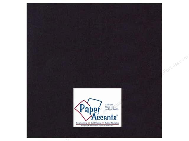Cardstock 12 x 12 in. #410 Linen Black by Paper Accents (25 sheets)