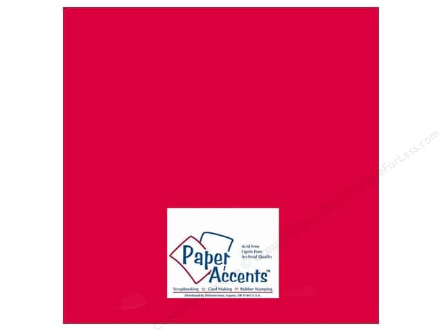 Cardstock 12 x 12 in. #412 Linen Red Pepper by Paper Accents (25 sheets)