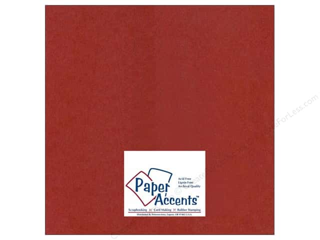 Cardstock 12 x 12 in. #414 Linen Olde Towne Red by Paper Accents (25 sheets)