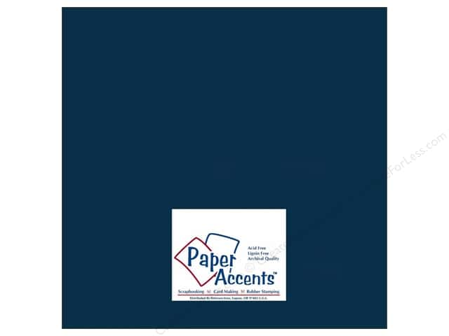 Cardstock 12 x 12 in. #415 Linen True Blue by Paper Accents (25 sheets)