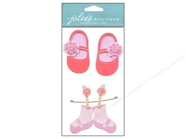 Jolee's Boutique Embellishments Baby Girl Booties