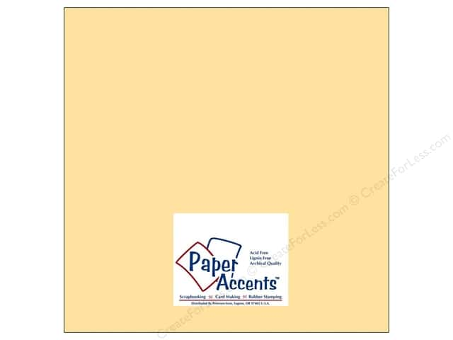 Cardstock 12 x 12 in. #8013 Muslin Butter Cream by Paper Accents (25 sheets)