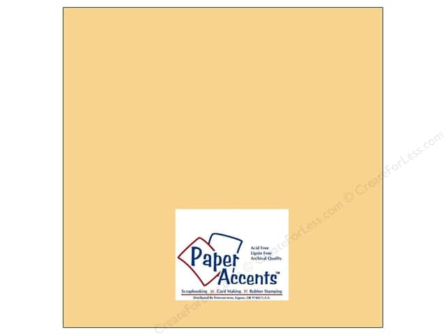 Cardstock 12 x 12 in. #8014 Muslin Candlelight by Paper Accents (25 sheets)