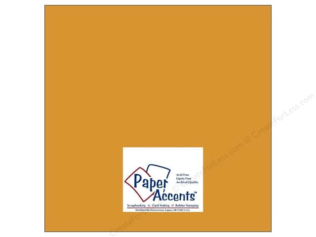 Cardstock 12 x 12 in. #8016 Muslin Curry Spice by Paper Accents (25 sheets)