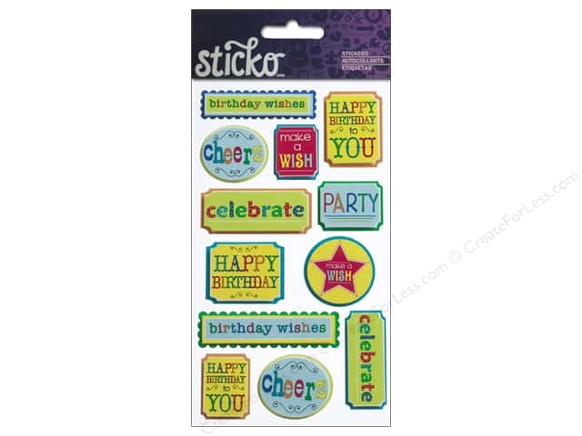 EK Sticko Stickers Celebrate Phrases