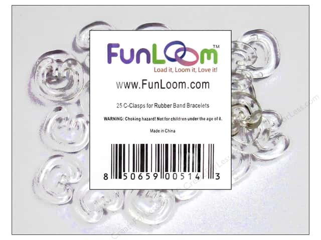 FunLoom Accessories Super C Clips for Loom Band Bracelets 25pc