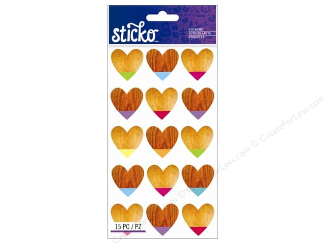 EK Sticko Stickers Color Dipped Hearts