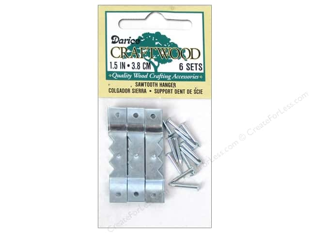 Darice Sawtooth Hangers 1 1/2 in. Nickel 6 pc.