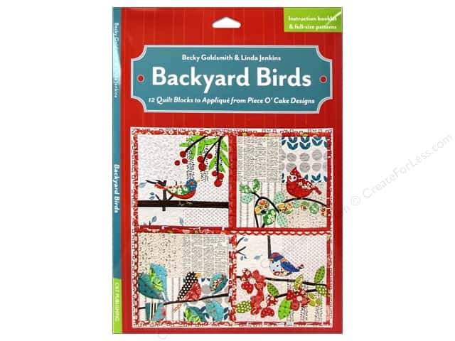 C&T Publishing Backyard Birds Book by Becky Goldsmith and Linda Jenkins
