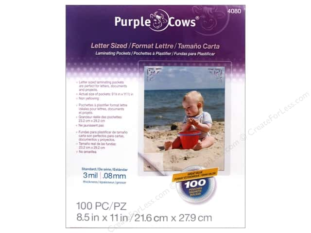 Purple Cows Laminating Hot Pockets 8 1/2 x 11 in. 100 pc.
