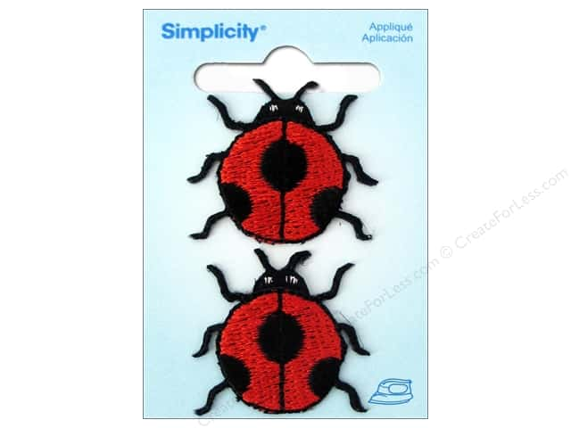 Simplicity Iron On Applique Large Ladybug