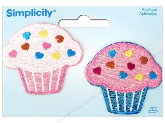 Simplicity Iron On Applique Cupcakes