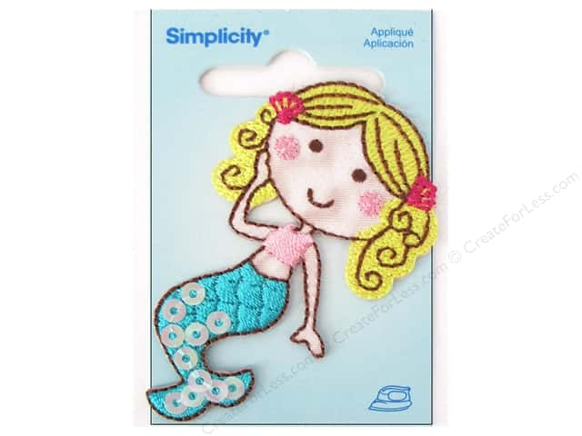 Simplicity Iron On Applique Mermaid